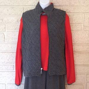 Other - 3pc Quilt Knit Vest Joggers Set